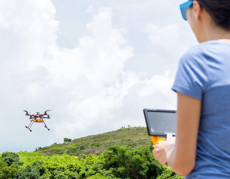 come usare un drone